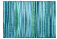 One Kings Lane - Eco-Elegance - Cancun Plastic Outdoor Rug, Turquoise