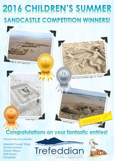 Congratulations to the Winners of our Summer Sandcastle Competition!