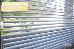 I love this quick and inexpensive fix to those ugly vertical blinds! Check out these tips!