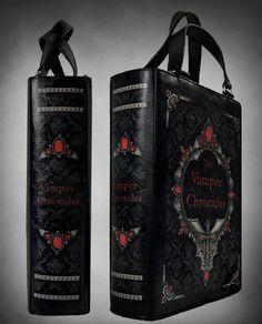 Goth Vampire Chronicles Book Shaped Bag - Purses & Handbags