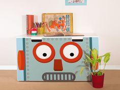 yourdea Aufkleber für Kinderzimmer IKEA Stuva Bank Truhe mit Motiv: Shocked Robot: Amazon.de: Küche & Haushalt