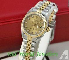 Rolex TUTONE LADYS DATEJUST DIAMOND