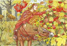 Guelder-rose. Watercolor on paper by N. D. Fomin( Krasnoyarsk, Russian Federation)