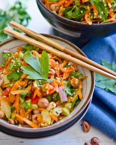 Asian Salad Recipe - change out honey with crushed pineapple, skip oil or puree some of the nuts into the dressing. Looks good.