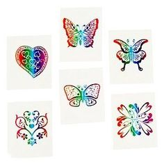 Glittery Rainbow Tattoos Pack of 12 - Great Girls Party Loot Bag Fillers: Amazon.co.uk: Toys & Games