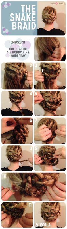 snake braid #hair #tutorial - pin now, try later!