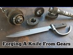 Forging A Knife From Gears - Trench Knife - YouTube