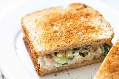 Best Ever Tuna Salad Sandwich! What makes the best ever tuna sandwich? It's all in the combination of ingredients—the best tuna you can find, cottage cheese and mayo, and good use of fresh dill, parsley, and more. Best Tuna Sandwich, Salad Sandwich, Sandwich Recipes, Sandwich Buffet, Sandwich Board, Tuna Fish Recipes, Seafood Recipes, Fish Salad, Tuna Salad