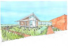 Concept design for the Te Awahou museum in Foxton