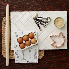 Herringbone tile - fireclay
