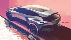 Now that the BMW Vision iNEXT Concept has been revealed, the fanbase has been in a bit of a tiff. While some fans really like the new elec. Bmw Design, Car Design Sketch, Bmw Sketch, Bmw Concept Car, Industrial Design Sketch, Car Drawings, Transportation Design, Automotive Design, Motor Car