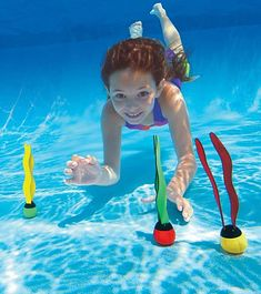 The Underwater Fun Balls have neat neoprene streamers, making them flow in the water.