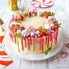 Piparminttu-putouskakku Food Festival, Dessert Recipes, Desserts, Red Velvet, Birthday Cake, Pudding, Dishes, Baking, Christmas