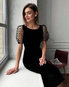 Want to know more about fashion dresses Black Prom Dresses, Lace Evening Dresses, Elegant Dresses, Pretty Dresses, Beautiful Dresses, Lace Dress, Long Dresses, Simple Dresses, Casual Dresses