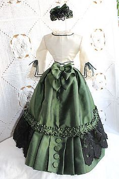 Beautiful-dress-for-antique-French-fashion-doll-16-039-039-1860-034-s