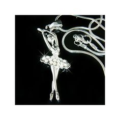 Swarovski Crystal BALLERINA Ballet Dance Girl Dancer dancing Pendant... ($38) ❤ liked on Polyvore featuring jewelry, necklaces, silver ball necklace, ballet necklace, swarovski crystal necklace, snake necklace and pendant necklaces