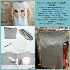 T-shirts as low as $2.00 at the Carousel Shop in La Grange, IL. Transform them into a work of art!