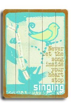 Song Inside Your Heart Distressed Wood Wall Plaque