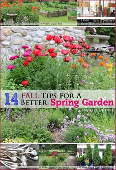 14 Fall Tips For A Better Spring Garden - do these now and thank yourself in spring! #gardenideas #spon