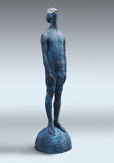 """Nazar Bilyk is a sculptor from Kiev, Ukraine    Both emotional and psychological borders and interactions become physical ones in the sculpture which Nazar created. He uses traditional techniques in his contemporary sculptures as well as unusual mix of polymer resins and glass (""""Rain"""")."""