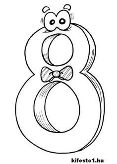 Number 8 Coloring Pages For Kids - Free Coloring Sheets Kids Printable Coloring Pages, Free Coloring Sheets, Alphabet Coloring Pages, Coloring Pages To Print, Adult Coloring Pages, Coloring Pages For Kids, Coloring Books, Colouring, Printable Alphabet Letters