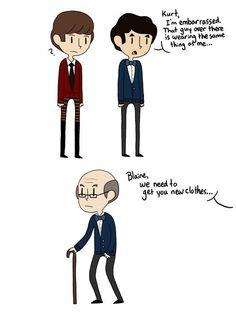 Haha oh Blaine ❤☺