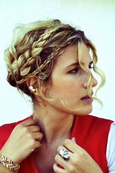 """Love the idea of a braid crown for prom"" -Brittany, Nordstrom BP. Blogger"