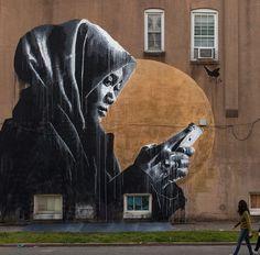 Big wall action from @nilsrva in the #us #globalstreetart (http://globalstreetart.com/nilswestergard)
