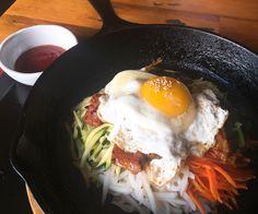 [I ate] Pork Bibimbap in a sizzling cast iron pan