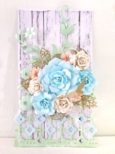 Pastel blue. All flowers are handmade by me 😊 #scrapbooking #handmade #handmadeflower #paperflower #scrapbook #card #tag