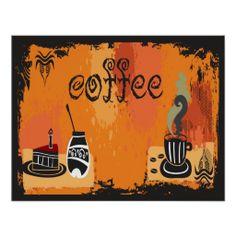 Coffee Grunge Print