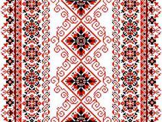 Ukrainian floral ornament on a white background Cross Stitch Needles, Cross Stitch Rose, Cross Stitch Flowers, Cross Stitch Charts, Cross Stitch Designs, Cross Stitch Patterns, Tatting Patterns Free, Embroidery Patterns, Crochet Patterns