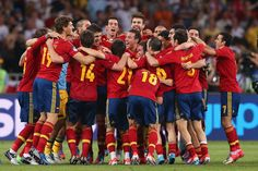 Spain National Football Team. We rock!!! Yesterday the boys scored 10 goals in one match!!!