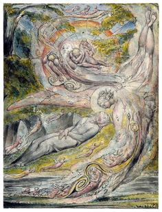 Milton`s Mysterious Dream, 1816-1820 by  William Blake