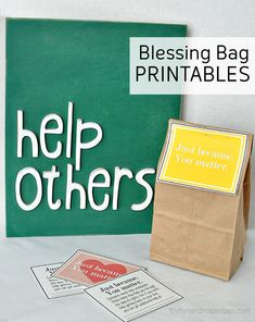 Print out these blessing bag printables to give to the homeless.  An awesome random act of kindness idea.  Tags could be used for other purposes too!
