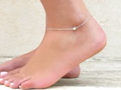 Items similar to Delicate Silver Ankle Bracelet, Silver Bead Anklet, sterling silver bead Anklet, Dainty Silver Ankle bracelet, Layering Anklet on Etsy Stylish Jewelry, Cute Jewelry, Jewelry Gifts, Fashion Jewelry, Affordable Jewelry, Diy Jewelry, Tattoo Bracelet, Anklet Bracelet, Silver Ankle Bracelet
