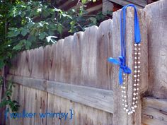 Update pearls by tying on a ribbon - that's it! EASY!