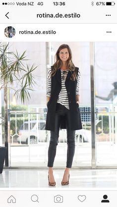 Explore the versatility of blazers with our list of 30 chic blazer outfits! From casual & sporty to elegant & haute couture, you'll find your fave blazer outfit Vest Outfits For Women, Mode Outfits, Casual Outfits, Clothes For Women, Work Clothes, Edgy Work Outfits, Fashionable Outfits, Stylish Clothes, Black Vest Outfit