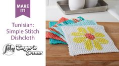 Tunisian: Simple Stitch Dishcloth