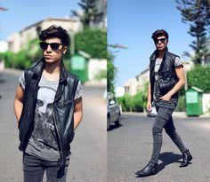 Jacket Zara, Tshirt Bershka, Jeans Cheap Monday, Alexander Wang Boots Alexander