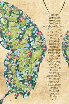 5 Inspiring Art Journal Page Ideas artjournalpage_butterfly_transformation_inspiration Art Journal Pages, Art Journals, Altered Books, Altered Art, Butterfly Transformation, Butterfly Art, Butterflies, Art Journal Inspiration, Journal Ideas