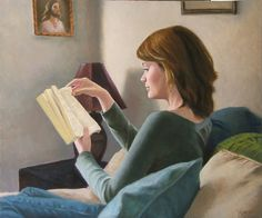 ✉ Biblio Beauties ✉ paintings of women reading letters & books - Matt Ellrod