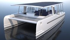 SoelCat 12 Solar Electric Vessel from SoelYachts for Eco-Tourism - Tuvie Catamaran Design, Power Catamaran, Yacht Design, Boat Design, Electric Boat, Electric House, Solar Panels For Home, Best Solar Panels, Boat Building Plans