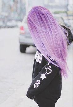 #pastel #hair #dye #color #purple