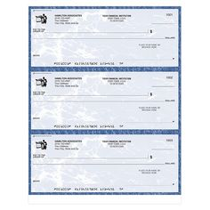 Blue Marble Laser Business Checks | Checks In The Mail Lost Wallet, Business Envelopes, Business Checks, Real Estate Agency, Financial Institutions, Marble, Blue, Real Estate Office, Granite