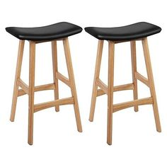 """""""Piper"""" Modern Timber Veneer Counter Stool in Black (Set of Saddle Bar Stools, Wooden Bar Stools, Leather Dining Room Chairs, Dining Table Chairs, Desk Chairs, Breakfast Stools, Luxury Bar, Most Comfortable Office Chair, Kitchen Stools"""