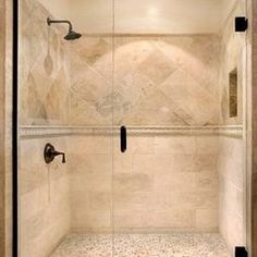 Master Bathroom Reveal Dual Shower Cubbies Pinteres