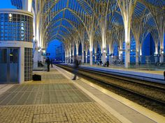 Oriente train station in Lisbon Portugal Most Beautiful Cities, Beautiful Places To Visit, Beautiful World, Portugal Travel, Spain And Portugal, Portugal Trip, Portuguese Culture, Beautiful Architecture, Train Travel