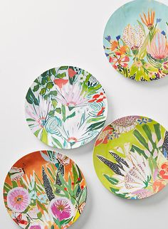 Anthropologie Lulie Wallace Melamine Dinner Plates, $10