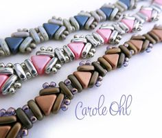 *P This geometric bracelet using Kheops and 2-hole bars is fun and easy-to-make. You will want to make several! Great gift idea. KITS FOR THIS BRACELET ARE: